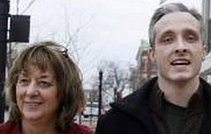 Jane Williams and Joshua Kezer after his release