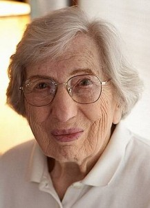 Miriam Moskowitz in 2011 when she was 95 years old. (Steve Burns)