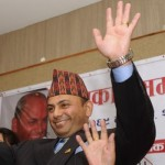 Govinda Mainali at press conference in Kathmandu after his acquittal on November 7, 2012 (Prakash Mathema - AFP)