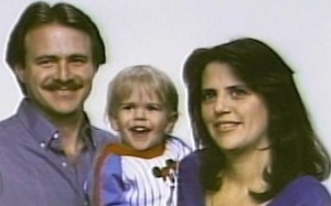 Photo: Michael and Christine Morton with son Eric in 1986 (KVUE)