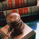 Gavel and legal books