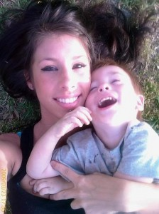 Ashley Nicole Hepburn with her son Owen (family photo)