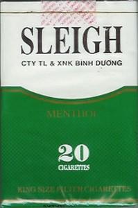 """Sleigh"" brand Vietnamese cigarette package"