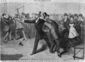 The attack on the president's life and the arrest of the assassin ( Library of Congress)