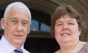 David Bryant and his wife Lynn Bryant outside the Royal Courts of Justice after Bryant's conviction was overturned on July 20, 2016 (Telegraph (London))