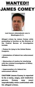 James Comey Wanted Poster
