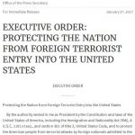 Executive Order 13769, The White House, Jan. 27, 2017