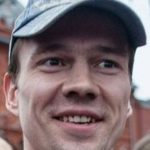 Ildar Dadin protesting in Moscow.