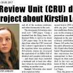 Kirstin Lobato CRU article in Las Vegas Tribune, September 20, 2017 issue
