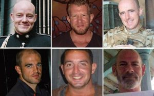 The Chennai Six. Top row from left to right: Ray Tindall, Nick Dunn, Nick Simpson. Bottom row: John Armstrong, Billy Irving, Paul Towers.