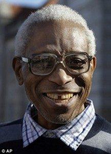 George Allen Jr. after his release in 2012 (AP)