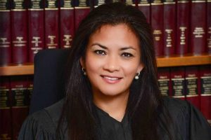 Cook County Circuit Court Judge Jessica Arong O'Brien in her judges chambers(ABS-CBN News)
