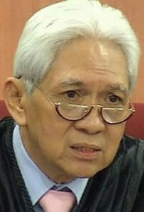 Philippines Supreme Court Justice Samuel Martires who wrote the ruling overturning the 'woman's honor' doctrine, in Philippines Vs. Juvy D. Amarela and Junard G. Racho, G.R. Nos. 225642-43 (Phil. Sup. Ct., Third Div, Jan. 17, 2018).