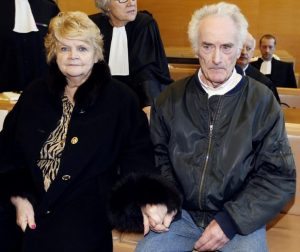 Danielle Le Guennec and Pierre Le Guennec in courtroom (AFP)